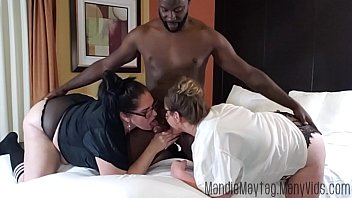 Big Dicked Texan Brings the Meat for a Thick Girl Threesome