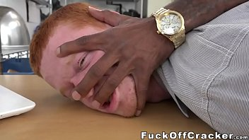 Redhead guy tempted by cash pleasures a monster black dick