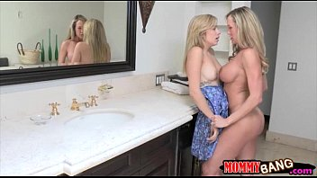 Teen beauty Mia Malkova sharing cock with stepmom Brandi Love