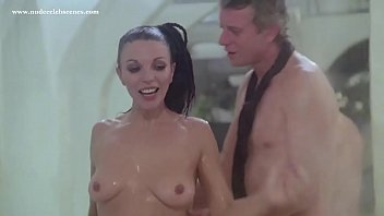 Joan Collins pool orgy scene in The Stud (1978)