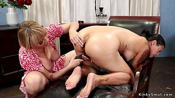 Lesbian therapist anal toys patient