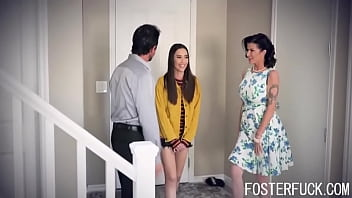 Foster Daughter Punished By Foster Parents For Snooping In- Aria Lee, Joslyn James