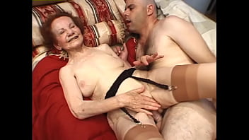 Hey My Grandma Is A Whore #14 - Extremely mature grandma looks like she should be on her deathbed, but she's still horny and wants cock