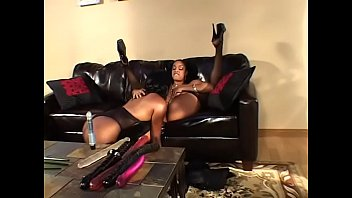 Horny lesbian bitch Juicy tittied black bitches on sofa lick eachothers wet cunts
