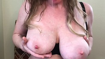 Sexy Milf Breastfeeds On Herself Swallows Milk and Dribbles On Boobs Want Some - BunnieAndTheDude