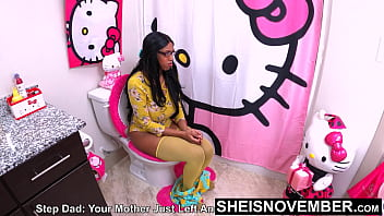 4k 60fps My Big Butt Stepdaughter Msnovember Taking Rough Doggystyle like A Grown Ass Woman, Yanked Off The Toilet By StepDad, Angry At His Wife, Who Denied Him Sex, Will Settle For His Ebony Stepdaughter Pussy  on Sheisnovember 8 min