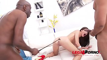 Russian Nympho Lovenia Lux gets demolished by 3 massive black cocks