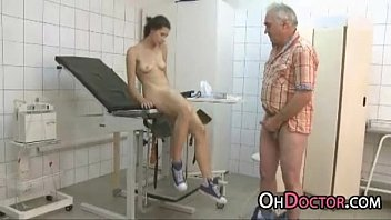 Young Girl Moans When Stuffed With Old Doctor Dick