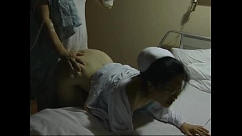 Japanese nurse fucked from behind