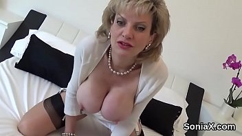 Unfaithful british mature lady sonia reveals her huge tits porn thumbnail
