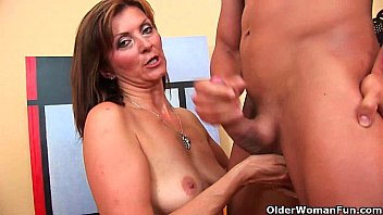 Pussy boy becomes a woman - Blow your load on grandmas face