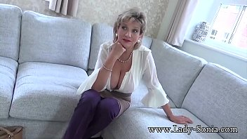 Your Aunt Sonia loves to help you jerk off your cock thumbnail
