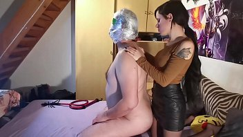Sexy domina do breath control & choking for blindfolded slave HD