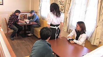 Fuck a japonese woman Japanese waitress food gangbang