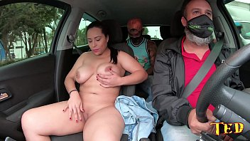 Ride from Ted # 34 with the big and busty Gabriela Ramos - Jhonny Gab