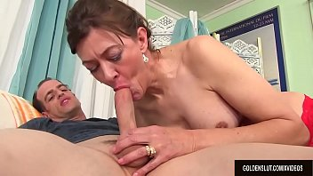 Older Tart Babe Morgan Uses Her Mouth and Cunt to Please a Dick