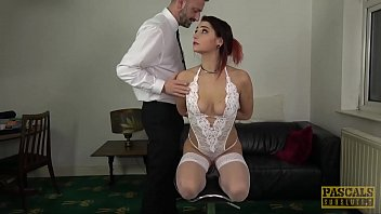 PASCALSSUBSLUTS - Goth sub Cat Collar submits to big cock 10 min