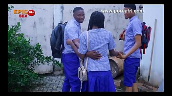 Anal and oral ebony girls Outdoor threesome with horny secondary school girl behind school hostel trailer
