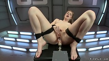 Tied solo blonde is machine banged thumbnail