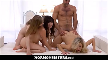 Mormon Sisters Dolly Leigh & Alison Rey Join In As Their Sister Zoe Parker Fucked By Church Boss