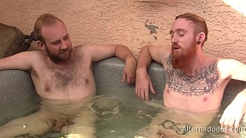 Red-Haired Tatted Guy Gets Blowjob from Hairy Cub