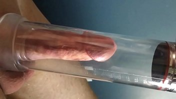 Penis girth enhancer sex toy - Pumping with my new pump