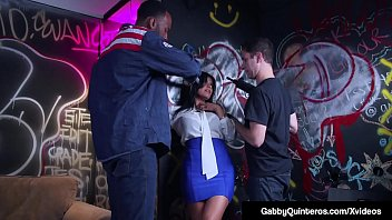 Mexican Milf Gabby Quinteros & Vyxen Steele literally get gang banged as 3 horny fuckers show up to get their cock sucked almost at gun point! These 2 cock sucking pro's drop to their knees & suck these guys off & take a pussy pounding as