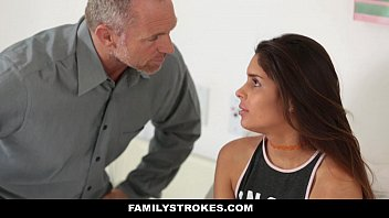 FamilyStrokes - Hot Horny StepDaughter Sucks & Fucks To Skip School thumbnail