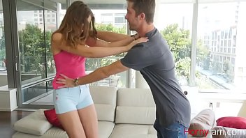 Brother Gets Inside Brunette Sister's  Pants- Elena Koshka