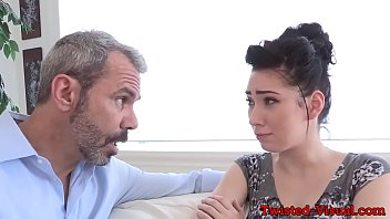 Babe doggystyled in couple before facial