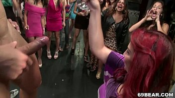 Women go crazy at Dancing Bear party
