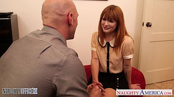 Naughty redhead wifes Small jugged claire robbins fuck in the office