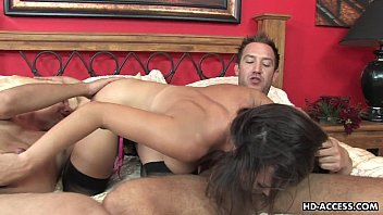 Holly is all over the place getting threesome fucked