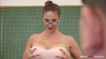 YOUMIXPORN Interactive - Busty Teacher Cathy Heaven fucks horny student