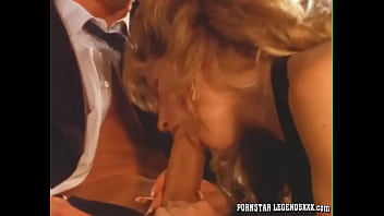 Busty MILF in stockings Olivia facialized after hardcore sex