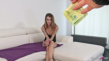 GERMAN SCOUT - EXTREM SKINNY TEEN ADELLE FUCK TO EYE ROLLING ORGASM AT STREET PICKUP
