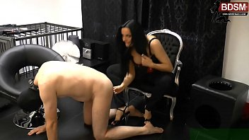 slave must do ass to mouth for german bdsm domina and she laught