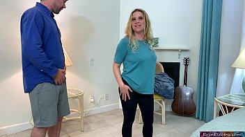 Stepmom tries to make a workout film but ends up fucking her stepson