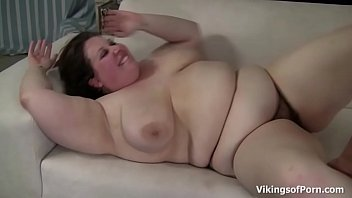 Brunette BBW Cutie with Bigtits Gets Pounded in the Couch preview image