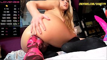 Young Blonde With Monster Dildo