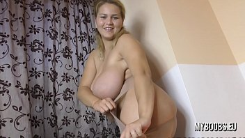 Erin Star in 3th month Pregnant masturbate in Pantyhose her sister Helen helps her destroy them pantyhose
