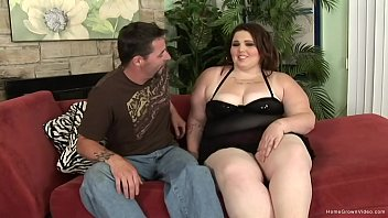 Brunette BBW Angie Luv is hungry for a hard cock