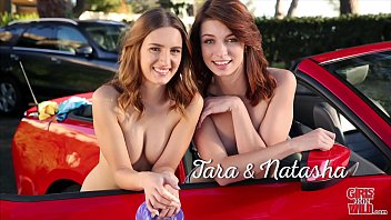 Aveeno facial wash Girls gone wild - teenage coeds tara and natasha in bikinis, putting on charity car wash