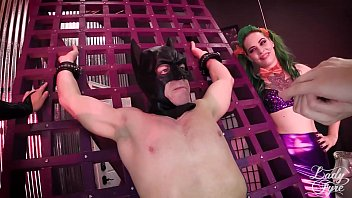 BATMAN: ENSLAVED CRUSADER! COSPLAY ORGY W/ CATWOMAN POISON IVY & JOKER GIRL