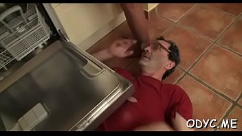 Hot old and j. sex with cute babe jerking off old man