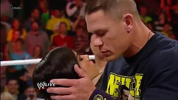 John Cena and AJ Lee Kiss - WWE Raw 11 19 12 Thumb