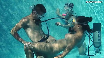 Underwater peril erotica - Candy mike and lizzy super hot underwater threesome