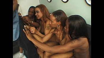Hot randy lesbian ebony group sex