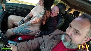 Bruno Different gets in the ride and has a surprise with the most desired porn star Elisa Sanches