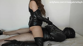 Male Tied Up Slut Used & Ruined By Leather Goddess
